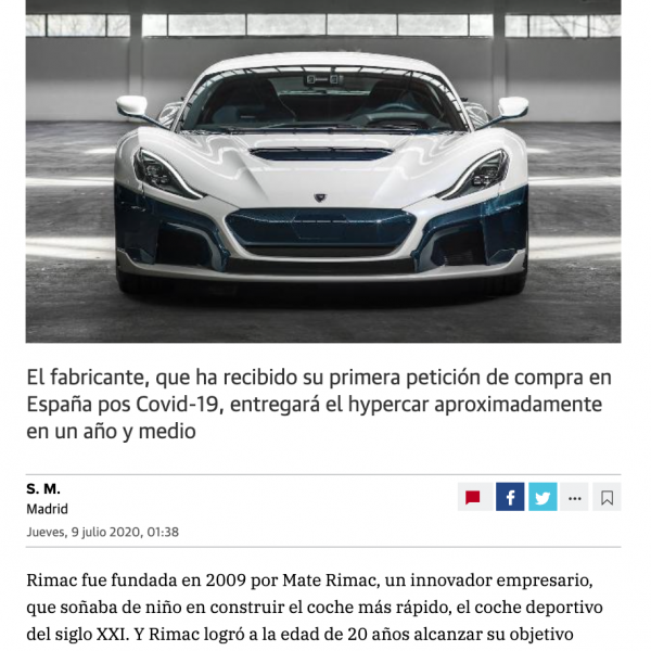 Diario Vasco - Rimac C-Two